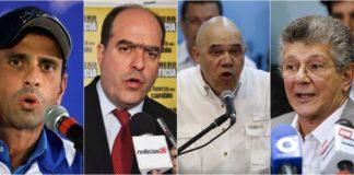 Dirigentes de la oposición