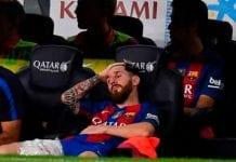 Messi estará de baja tras sufrir lesión muscular