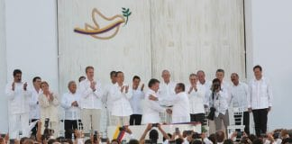 Firma del acuerdo de paz entre el gobierno de Colombia y la FARC