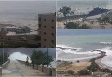 Así se registro el paso del huracán Matthew por las costas de Vargas