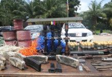 Incautan reserva de explosivos y armas en Apure