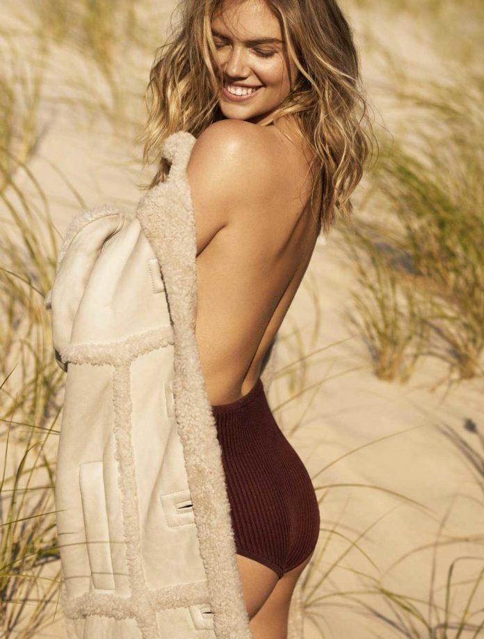 Kate Upton posó topless para Glamour