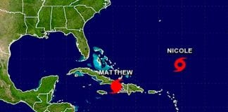 Tormenta tropical Nicole pasó a huracán
