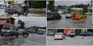 Calles de Naguanagua se inundaron tras repentina lluvia