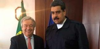 Nicolas Maduro y Secretario ONU