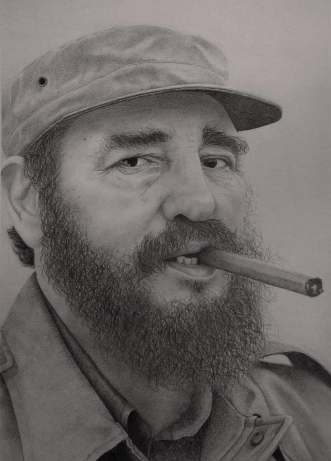 Oleo de Fidel Castro