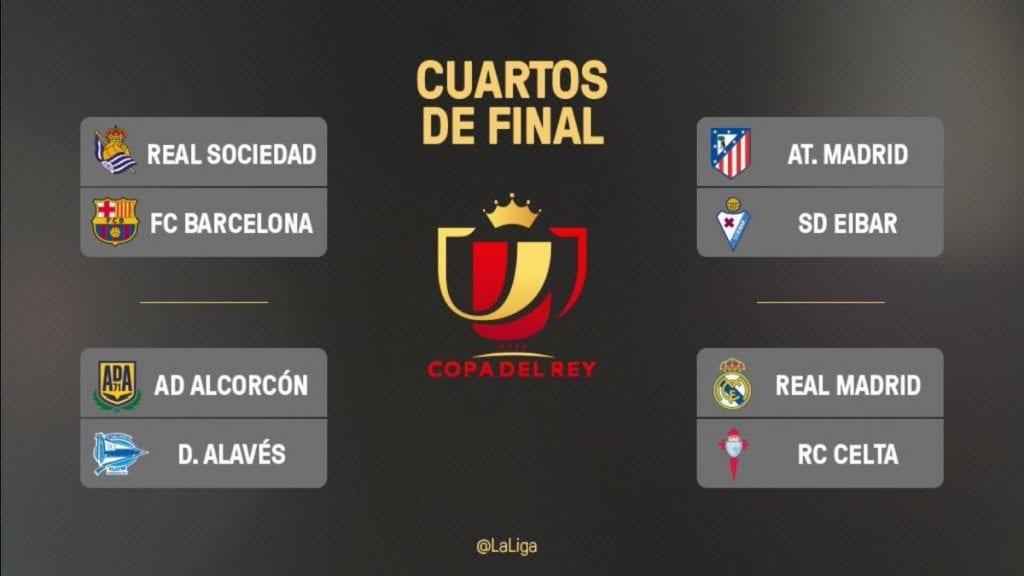 Así serán los cuartos de final en la Copa del Rey