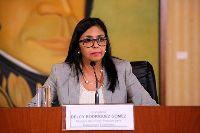 Delcy Rodríguez injerencista