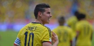El gesto del jugador James Rodríguez
