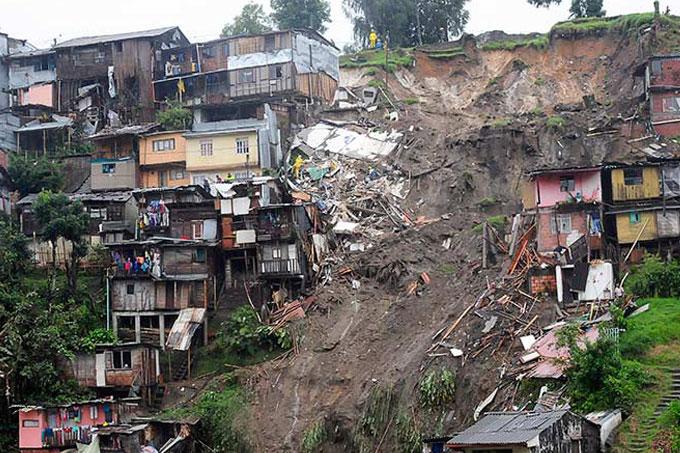 Colombia: deslave deja 17 fallecidos y cientos de damnificados
