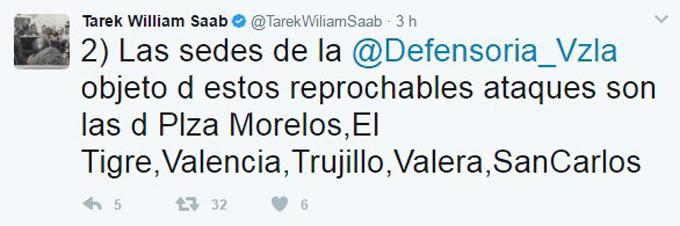 Saab denunció ataques a sedes de la Defensoría en el país - N24C 2