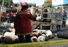 Explotó camión de gas en barrio Bella Vista