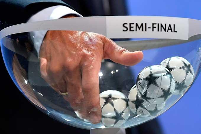 sorteo de semifinales de la Champions