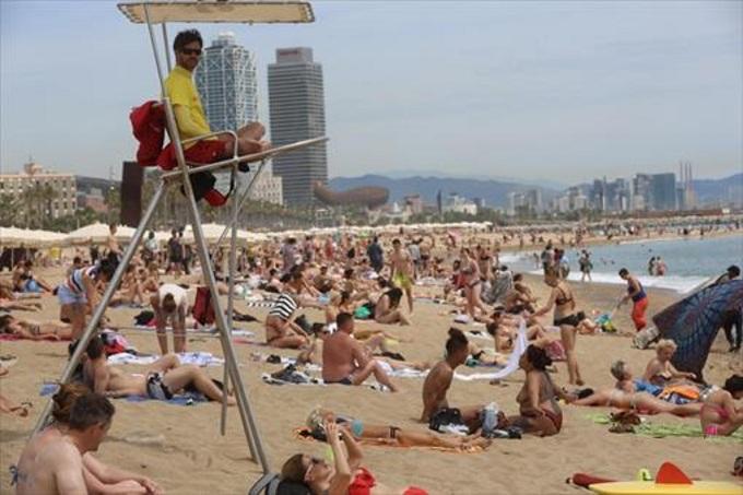 Temperaturas en playas de España