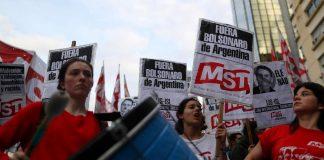 noticias24carabobo-¡No lo quieren! Protestas en Argentina por la visita de Bolsonaro