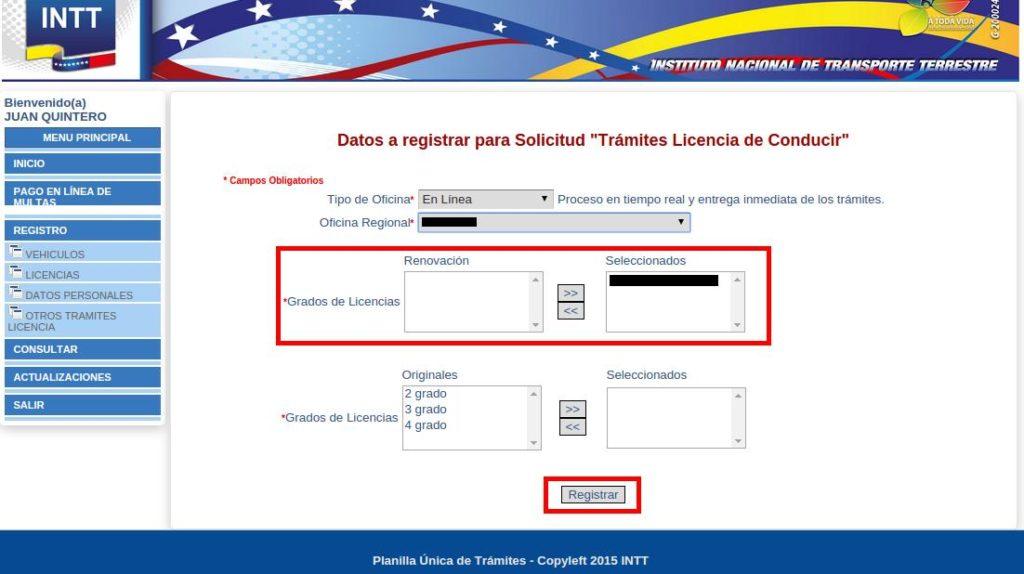 renovar licencia de conducir