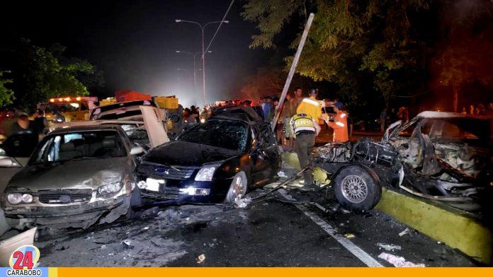 N24C - La noche de este miércoles fue registrado un accidente en la autopista puerto cabello; entre los kilómetros 192 y 193 respectivamente.