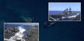 Buques de Guerra de Estados Unidos y Rusia cerca de chocar en el mar - Noticias 24 Carabobo