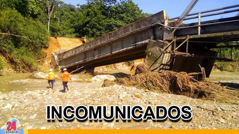 Mérida y Táchira están incomunicados por derrumbe de un puente