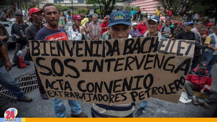 N24C - Ex trabajadores del sector petrolero en huelga de hambre desde el 30 de mayo para protestar por el impago de pasivos;