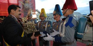 N24C - El presidente de la República Bolivariana ; encabezó un acto militar en conmemoración numero 198 ....................