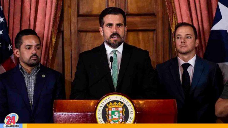 Ricky Roselló dimitió al cargo de gobernador en Puerto Rico