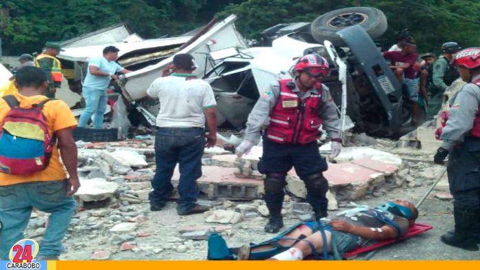 Noticias 24 Carabobo - Accidente en vía Caracas - Guarenas