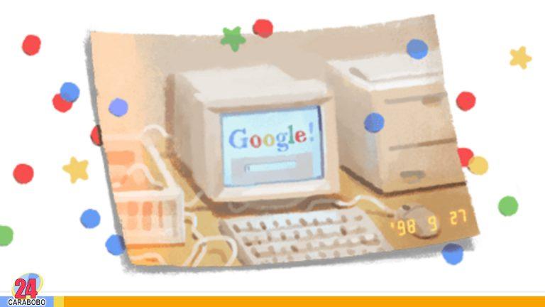 ¡Feliz cumpleaños Google! con un Doodle celebra su aniversario 21°