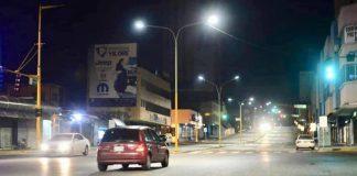 avenida Cedeño bien alumbrada