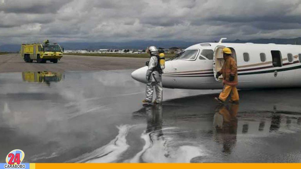 Avioneta aterrizó de emergencia