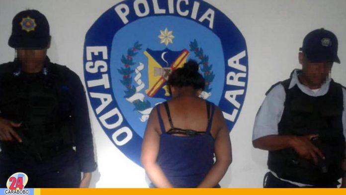 Detenida mujer en Lara