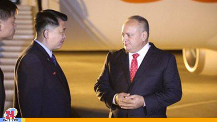 Diosdado Cabello en Corea del Norte para