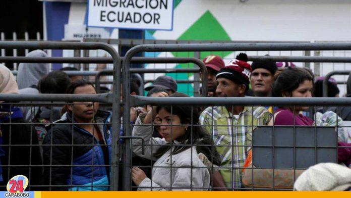 registro de inmigrantes venezolanos en Ecuador