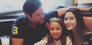 Jonathan Montenegro y sus hijas