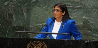 Delcy Rodríguez en la ONU