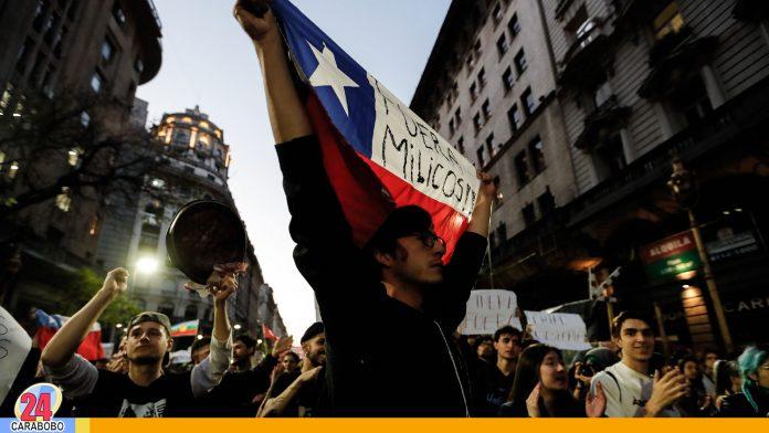 detenidos en protestas en Chile