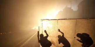 Centro de Santiago en llamas - noticias24 Carabobo