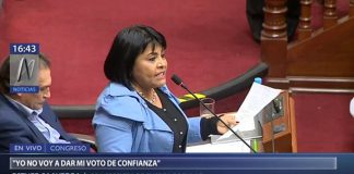 Congresista Peruana Esther Saavedra