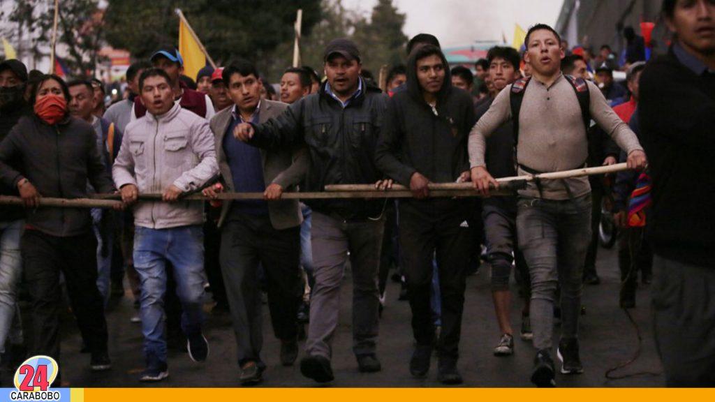 Indígenas se unen a protestas