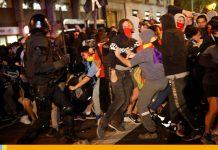 Protestas por independencia de Cataluña dejó 30 detenidos