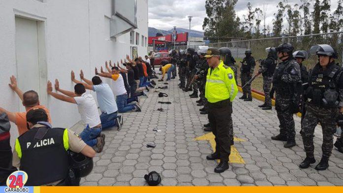 Venezolanos detenidos en Ecuador
