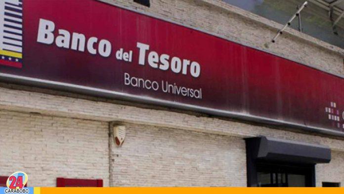 Banco del Tesoro suspende servicios