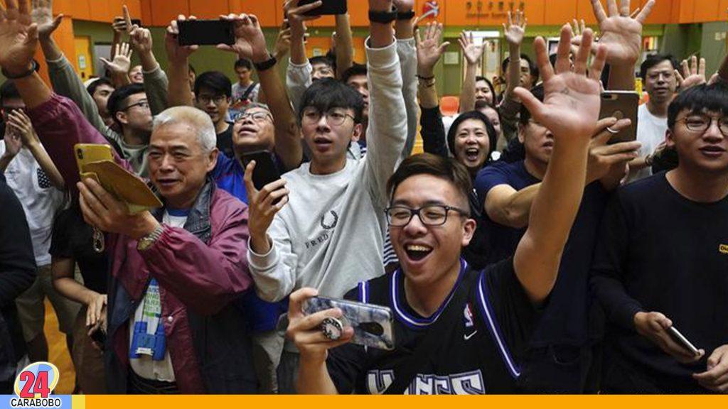 Bloque prodemócrata obtiene la victoria en elecciones de Hong Kong