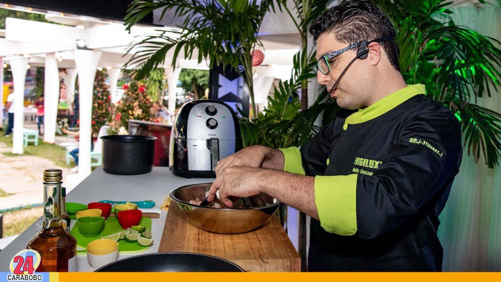 Chef Merlín Gessen presentó cooking show con línea menor de Frigilux