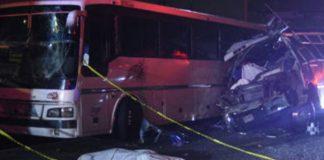 Choque de autobuses en México - Choque de autobuses en México
