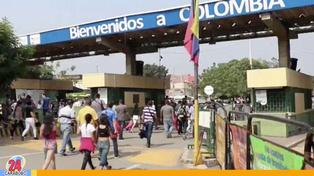 Cierre de frontera colombiana por jornadas de manifestaciones