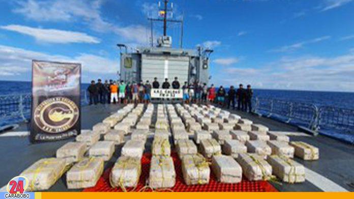 Colombia incautó toneladas de cocaína y detiene a venezolanos