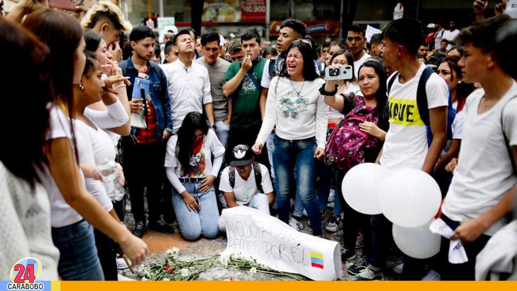 Muere Dylan Cruz joven herido en las protestas en Colombia
