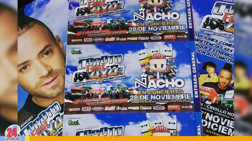 spensión del Coroto Fest 4x4 evento donde se presentaría Nacho