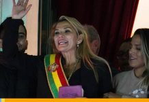 Rusia reconoce a Jeanine Áñez como presidenta interina de Bolivia